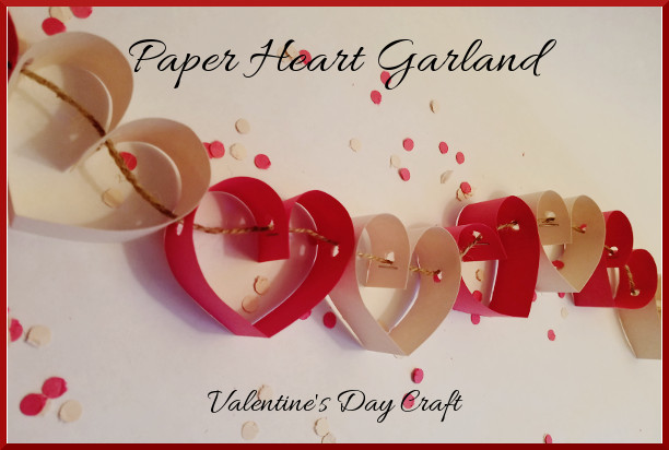 Valentines Day Crafts-Paper Heart Garland featured image