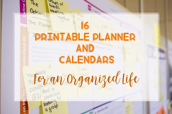 16 Printable Planner and Calendars featured image