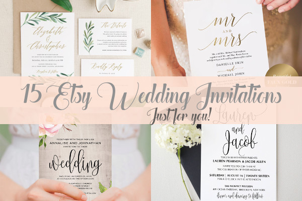 15 Etsy Wedding Invitations featured image